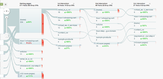 Google Analytics Visitor Flow